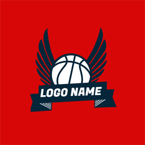 Fly Wing and Basketball logo design