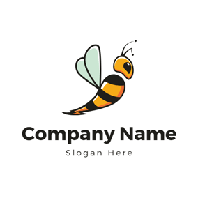 Fly Wing and Vivid Bee logo design