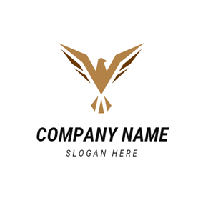 Flying Brown Eagle logo design