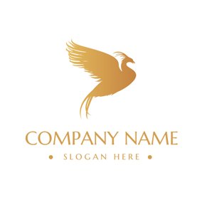 Flying Brown Phoenix logo design