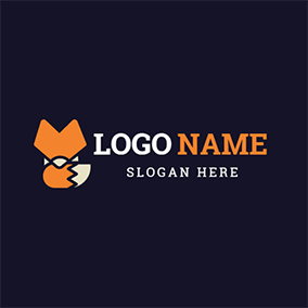 Foxtail and Abstract Fox Icon logo design