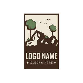 Frame and Landscape Icon logo design