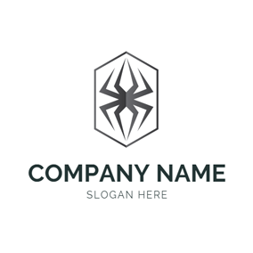 Frame and Spider Icon logo design