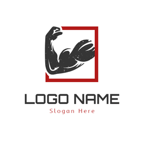 Frame and Strong Arm logo design