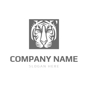 Frame and Tiger Head logo design