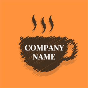 Freehand Sketching and Coffee logo design