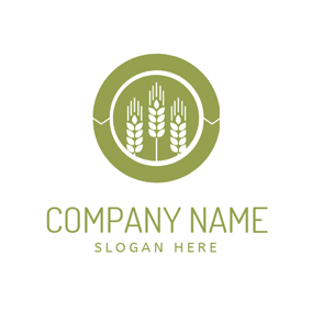 Fresh Green Wheat logo design