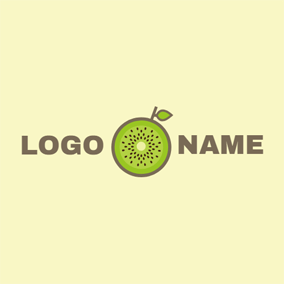 Fresh Kiwi Slice logo design