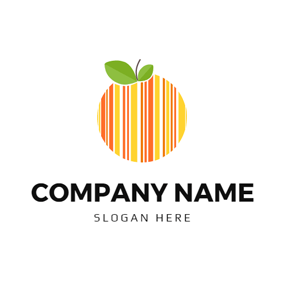 Fresh Leaf and Barcode Fruit logo design
