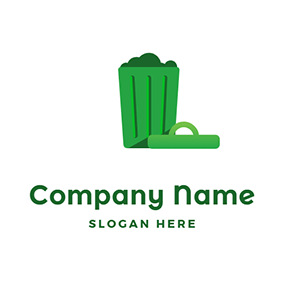 Full Trash Can logo design