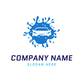 Full Water Spray and Car logo design
