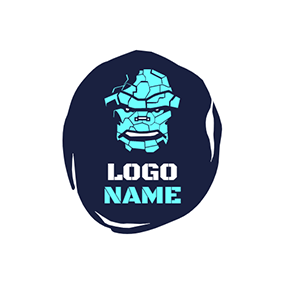 Gaming Irregular Pieces Robot Monster logo design