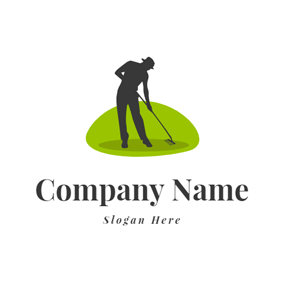 Gardener and Lawn Care Icon logo design