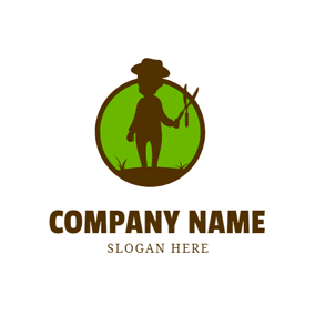 Gardener and Lawn Care logo design