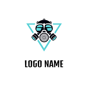Gas Mask and Triangle logo design