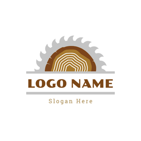 Gear Rack and Wood logo design