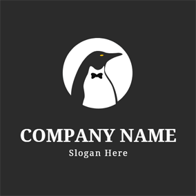 Gentle and Chubby Penguin logo design