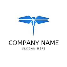 Geometric Figure and Dragonfly logo design