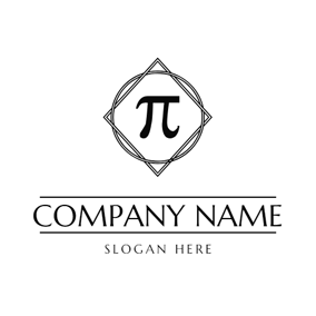Geometric Figure and Pi logo design