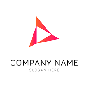Geometric Triangle Simple Advertising logo design