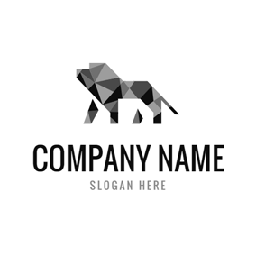 Geometrical and Simple Lion logo design