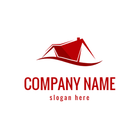Geometrical Line and Roof logo design