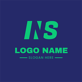 Geometry Simple Letter N S logo design