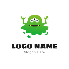 Ghastful Green Monster logo design