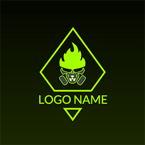 Ghost Flame and Skeleton logo design