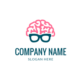 Glasses and Brain Icon logo design