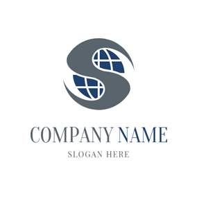 Globe and Letter S logo design
