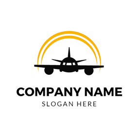 Glorious Sunrise Aviation logo design