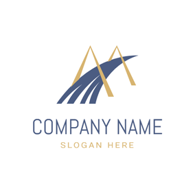 Golden and Blue Bridge logo design