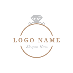 Golden and Silver Ring logo design