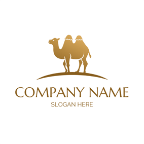 Golden and Yellow Camel logo design
