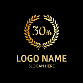 Golden Branch and 30th Anniversary logo design