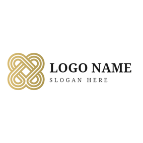 Golden Chinese Knot logo design