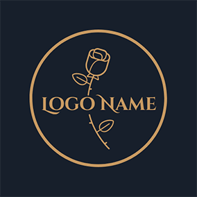 Golden Circle and Rose logo design
