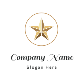 Golden Circle and Star logo design