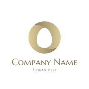 Golden Circle and White Egg logo design