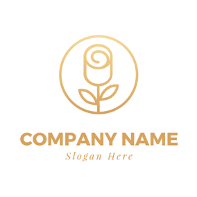 Golden Flower Bud logo design