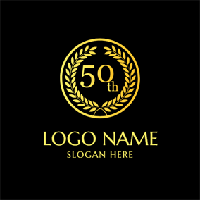 Golden Leaf and 50th Anniversary logo design