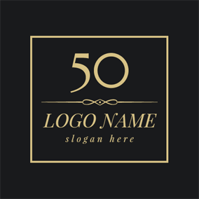 Golden Square and 50th Anniversary logo design
