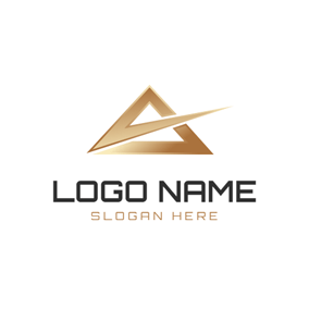 Golden Triangle and Delta Sign logo design