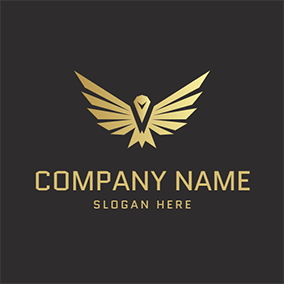 Golden Wings Symbol Osprey logo design