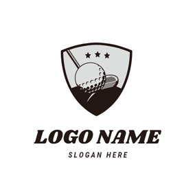 Golf Clubs and Golf Ball logo design