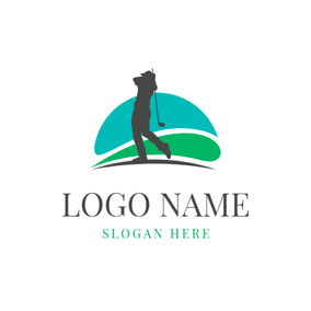 Golf Course and Golf Player logo design