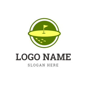Golf Flag and Golf Course logo design
