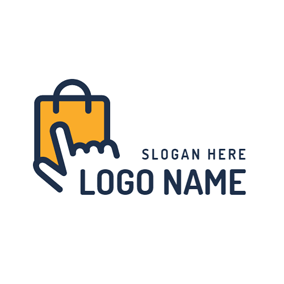 Gorgeous Yellow Handbag logo design