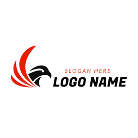 Goshawk Head and Wing logo design